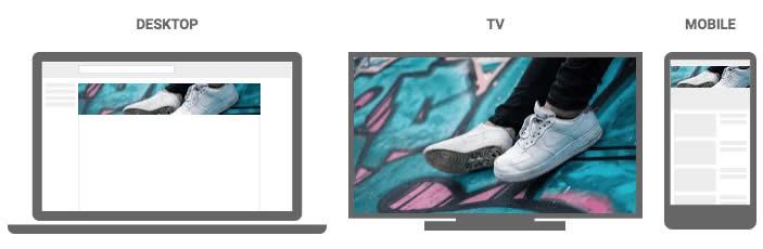 Ảnh bìa Youtube trên các thiết bị khác nhau